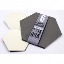 Notesbøger 6 kantet, grå