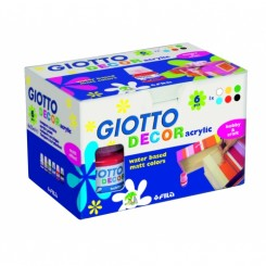 GIOTTO DECOR akryl maling 6 stk. mat 25Ml.