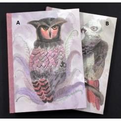 Luksus notesbog m. lærredsomslag
