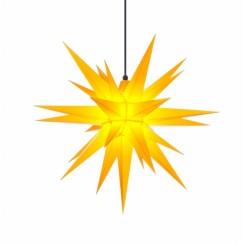 Adventsstjerne, plast, 68 cm, usamlet, gul (Kan bruges undendørs)