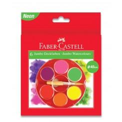 Faber Castell Jumbo vandfarve, 6 farver