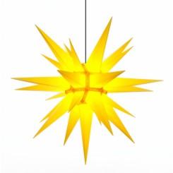 Adventsstjerne, plast, 130 cm, usamlet, gul (Kan bruges undendørs)