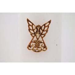 Lyssmykke engel guld, 1 stk.