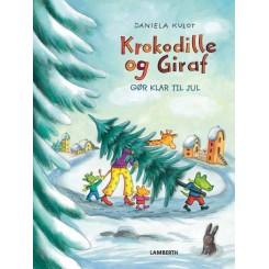 Krokodille og giraf gør klar til jul