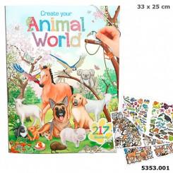 Create Your Animal World Aktivvitetsbog m/stickers