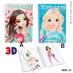 TOPModel 3D Lommemalebog Vandmelon/Turkis