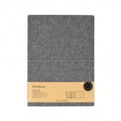 Notebook A4 linieret, Grå