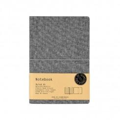 Notebook A5 linieret, Grå