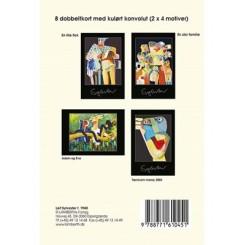 Gaveæske Leif Sylvester - 8 dobbeltkort