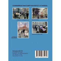 Gaveæske blå Paul Fischer - 8 dobbeltkort