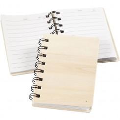 Notesbog, krydsfiner, lille