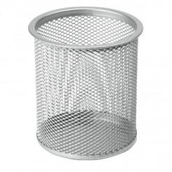 Blyantholder rund metal, sølv