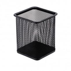 Blyantholder firkantet metal, sort