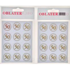Oblater 50 guld, 24 stk
