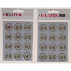 Oblater 60 guld, 24 stk