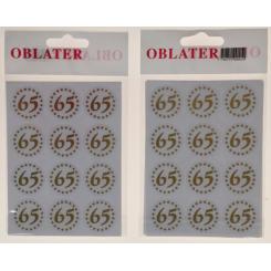 Oblater 65 guld, 24 stk