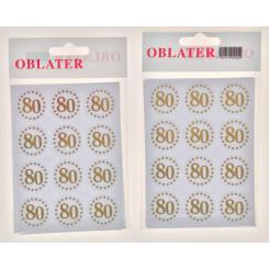 Oblater 80 guld, 24 stk