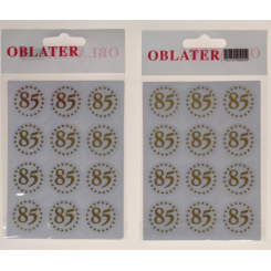 Oblater 85 guld, 24 stk