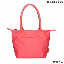 Trend LOVE lille håndtaske, koralrød
