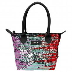 Trend LOVE lille håndtaske, palietter multi