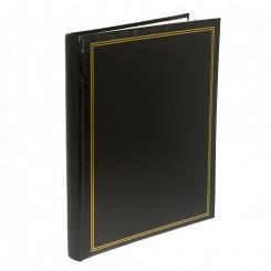 Fotoalbum / Scrapbog sort, m. 20 selvhæftende sider