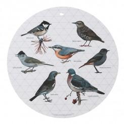 Vægdekoration, serveringsfad, skærebræt Havens fugle