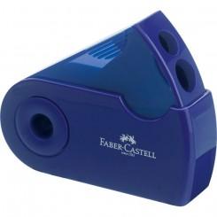 Faber Castell blyantspidser med to huller, blå