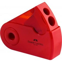Faber Castell blyantspidser med to huller, rød