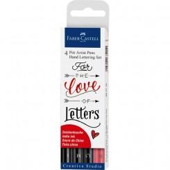 India ink Pitt Artist Pen Hand Lettering 4 stk.
