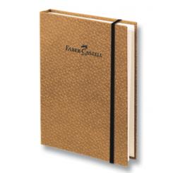 Faber Castell Bamboo blok, brun, A6, ternet sider