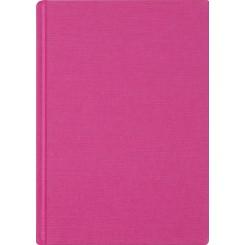 Notesbog linen, A5, pink