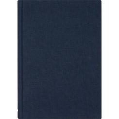Notesbog linen, A5, navyblå