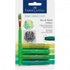 Akvarel farvekridt Gelatos grøn, sæt med 4