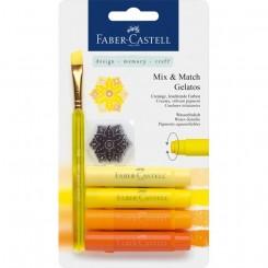 Akvarel farvekridt Gelatos gul, sæt med 4