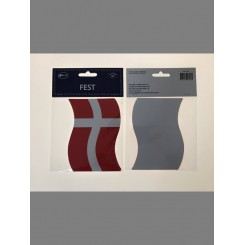 Selvklæbende flag, 12x6cm, 4 stk.