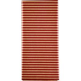 Silkepapir guld og røde striber