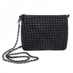 Crossbody Bag ∙ Suede flet∙ Black