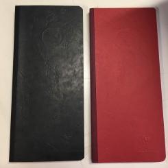 Adresse & telefonbog, rød eller sort