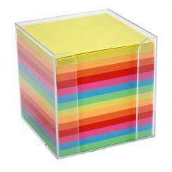 Kubus notesblok 9x9cm, multicolor pastel