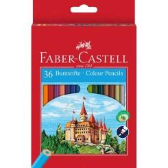 Faber Castell farveblyanter 36 stk. inkl. blyantspidser