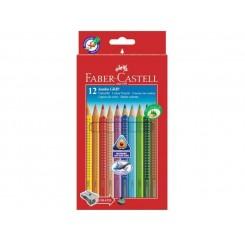 Faber Castell trekantet farveblyanter 12 stk. Jumbo