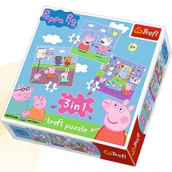 Gurli gris 3 i 1 puslespil
