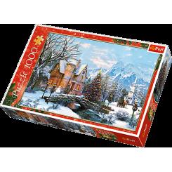 Puslespil Vinter landskab, 1000 brikker