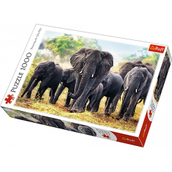 Puslespil Elefanter, 1000 brikker