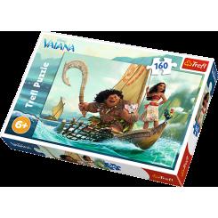 Vaiana og båd, 160 brikker