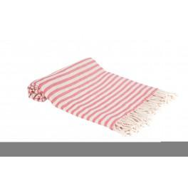 Multi tæppe, dug eller badelagen, rød