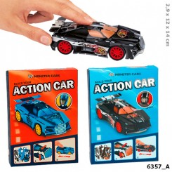 Monster Cars 3D Puzzle Bil m/pull back