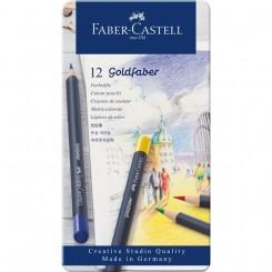 Faber Castell Goldfaber, farveblyanter, 12 stk.