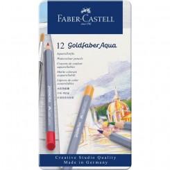 Faber Castell Goldfaber, akvarel farveblyanter, 12 stk.