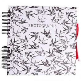 Fotoalbum med selvklæbende sider, svaler